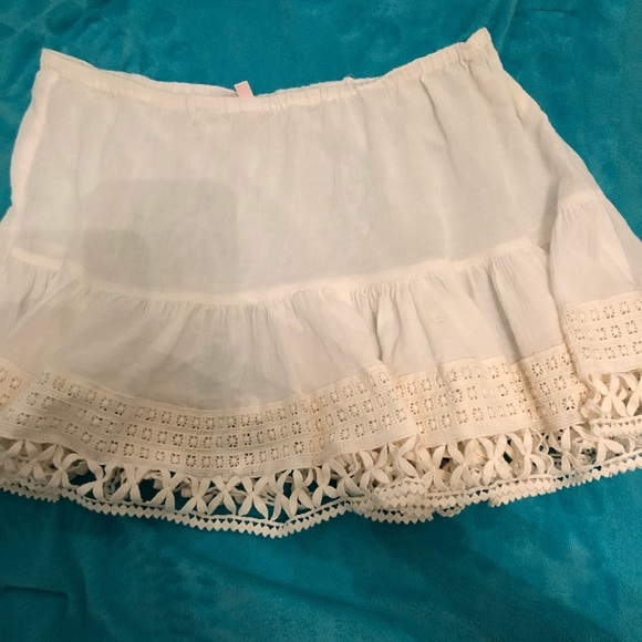 Victorias Secret Skirts Victorias Secret White Crochet Beach